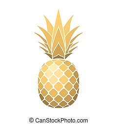 gold pineapple clipart. pineapple gold icon clipart