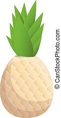 Pineapple icon, cartoon style