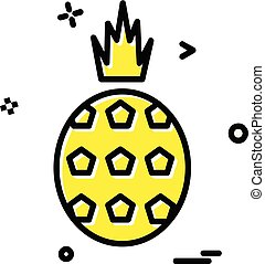 Pineapple icon design vector