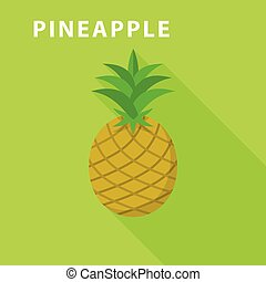 Pineapple icon, flat style
