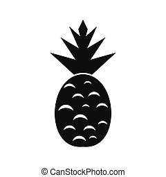 Pineapple simple icon isolated on white background.