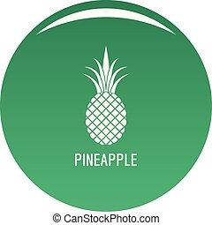 Pineapple icon vector green