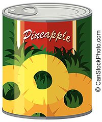 Pineapple in aluminum can