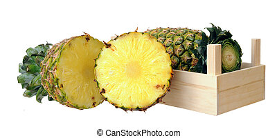pineapple in crate