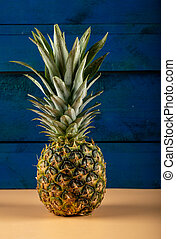 Pineapple isolated on a blue background