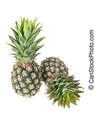 Pineapple isolated on white background, fresh fruit