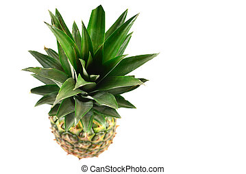 Pineapple isolated on white.
