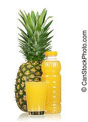 Pineapple juice - Fresh pineapple juice and ripe pineapple...
