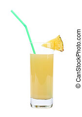 Pineapple juice in a glass.
