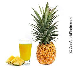 pineapple juice isolated on white background