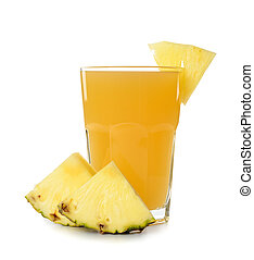 pineapple juice on a white background