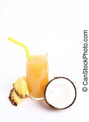 Pineapple juice - Refreshing pineapple juice on the table