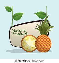 pineapple natural product label