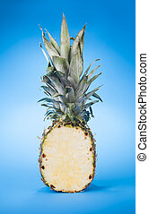 Pineapple on a blue background