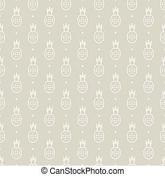 pineapple pattern - Seamless pattern with ripe pineapple...