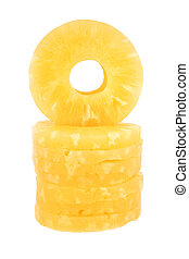 Pineapple rings isolated on a white background