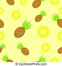 Pineapple Seamless Pattern Background