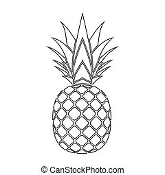 pineapple silhouette icon