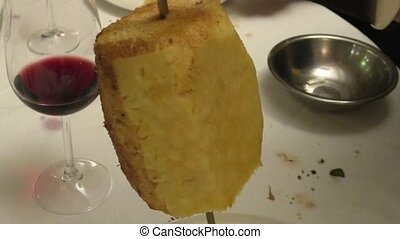 Pineapple slices in Brazilian Steak house - Hot and sweet...