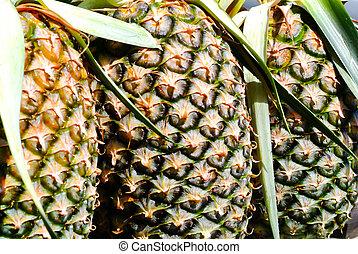 pineapple texture fresh ripe pineapple background