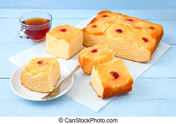 Pineapple upside-down cake