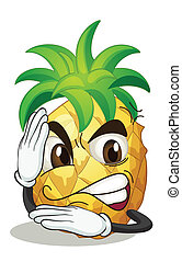 pineapple - illustration of a pineapple on a white...