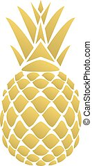 Pineapple - vector golden pineapple