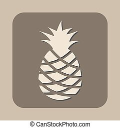 pineapple vector icon