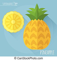 Pineapple  vector icon.