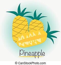 Pineapple Vector Illustration.