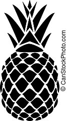Pineapple vector - vector illustration of a pineapple