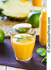 Pineapple with Orange and Mango smoothie