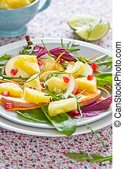 Pineapple with Pomegranate salad