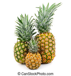 pineapples isolated on white background