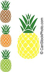 Pineapples - vector pineapples