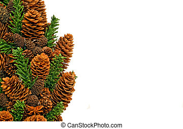 Pinecone landscape - Traditional Christmas wreath made from ...