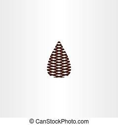 pinecone vector icon symbol