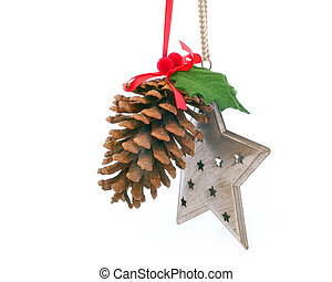 pinecone with star