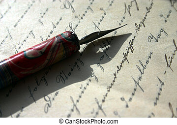 writing - pinfeather and old writing