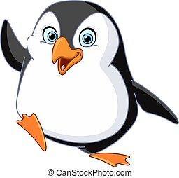 pingüim, waving