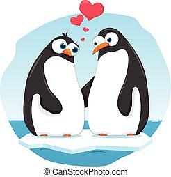 pingüins, amor