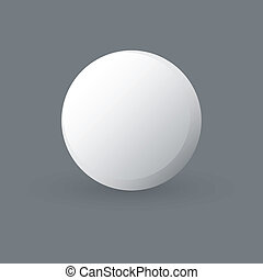 Ping Pong - abstract ping-pong ball on a gray background
