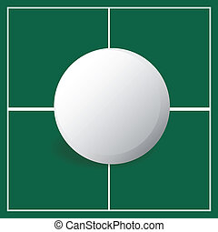Ping pong - abstract ping pong ball on a special background