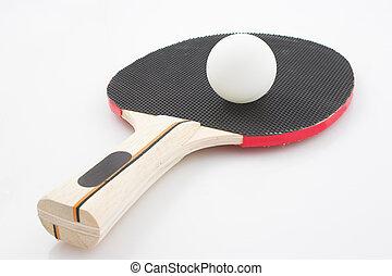 Ping-pong bat and ball
