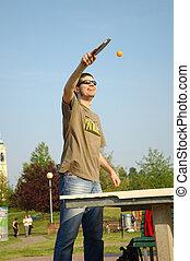 Ping pong - Boy playing ping pong
