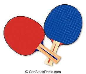 ping-pong, chauves-souris, deux