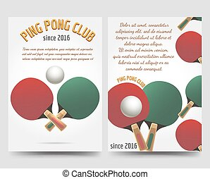 Ping pong flyers template - Sport brochure flyers template....