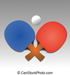 ping pong icon on gradient gray background