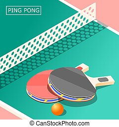 Ping Pong Isometric Background - Ping pong isometric...