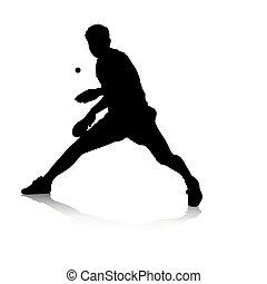 ping-pong, joueur